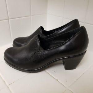 Dansko Size 40 Black Heels Clogs 9.5 - 10